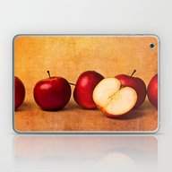 Apples In Red Panorama Laptop & iPad Skin