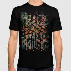 Buds and Branches Black SMALL Mens Fitted Tee