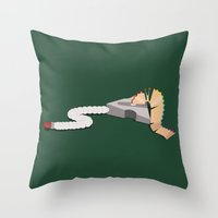 Pink Floyd & Caterpillar… Throw Pillow