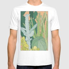 Cacti SMALL White Mens Fitted Tee