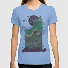 Northern Nightsky Womens Fitted Tee Tri-Blue SMALL