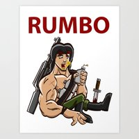 Rumbo - An incredibly violent and constantly drunk soldier of doom Art Print