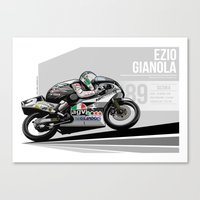 Ezio Gianola - 1989 Suzuka Canvas Print