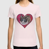 Rastus The Snowshoe Cat Womens Fitted Tee Light Pink SMALL