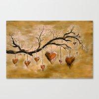 Der Liebesbaum (in Acryl… Canvas Print