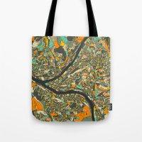 PITTSBURGH MAP Tote Bag