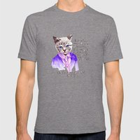 Fashion Mr. Cat Karl Lagerfeld and Chanel Mens Fitted Tee Tri-Grey SMALL