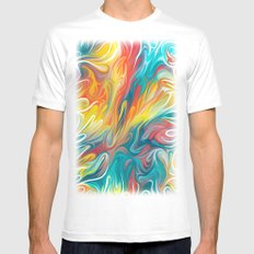 Abstract Colors II SMALL White Mens Fitted Tee