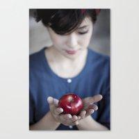 Apple, My Sweet? (Snow White) Canvas Print
