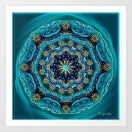 Happy Mandala - Blessing… Art Print