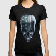 American Horror in Metal Womens Fitted Tee Tri-Black SMALL