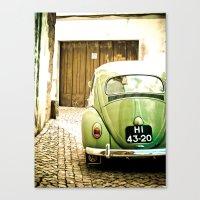Mrs Olive Green Canvas Print