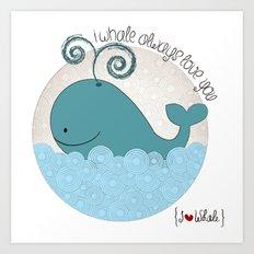 I {❤} Whale Art Print