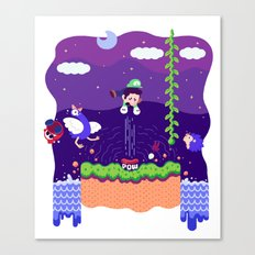 Tiny Worlds - Super Mario Bros. 2: Luigi Canvas Print