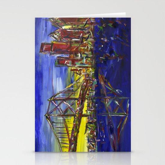 Philly Skyline with Ben Franklin Bridge Stationery Card