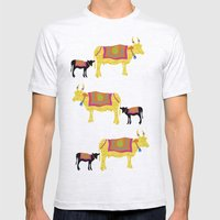 Streets of India- Cows Mens Fitted Tee Ash Grey SMALL