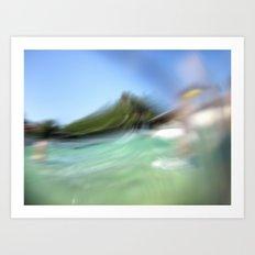 Walk on the ocean Art Print