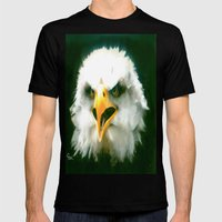 WAKE UP AMERICA !!! Mens Fitted Tee Black SMALL