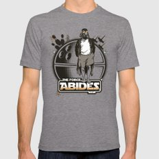 The Force Abides Mens Fitted Tee Tri-Grey SMALL