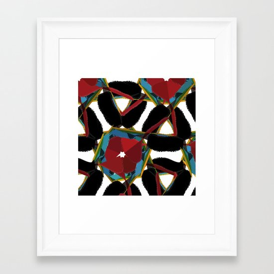 Floral Madness Framed Art Print