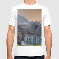 Imposscape_02 Mens Fitted Tee White SMALL