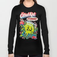 Long Sleeve T-shirt featuring CTHUL-AID by BeastWreck