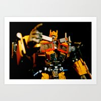 Golden Optimus Art Print
