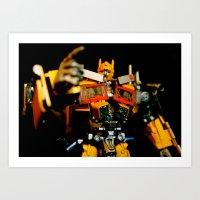 Golden Optimus Art Print