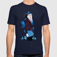 Butterflies Mens Fitted Tee Navy SMALL