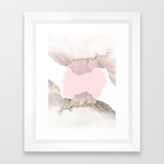 Pale Pink on Mountains Framed Art Print