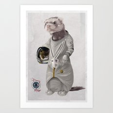Ferreting in Space Art Print