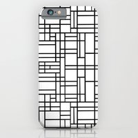Map Outline Black on White  iPhone 6 Slim Case