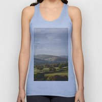 Sunset over trees in the valley. Derbyshire, UK. Unisex Tank Top