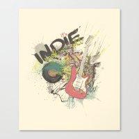 It's Indie Rock'n'Roll Canvas Print