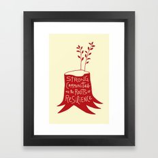 Roots Of Resilience Framed Art Print