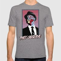 They Observe Mens Fitted Tee Tri-Grey SMALL