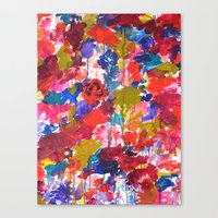 Floral Drip Canvas Print