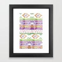 Watercolour Quilt #2 Framed Art Print