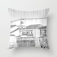 Rainy Season  Throw Pillow