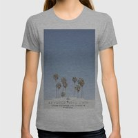 York BLVD   Highland Park   Los Angeles Womens Fitted Tee Athletic Grey SMALL
