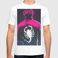 Drive (Night Version) Mens Fitted Tee White SMALL