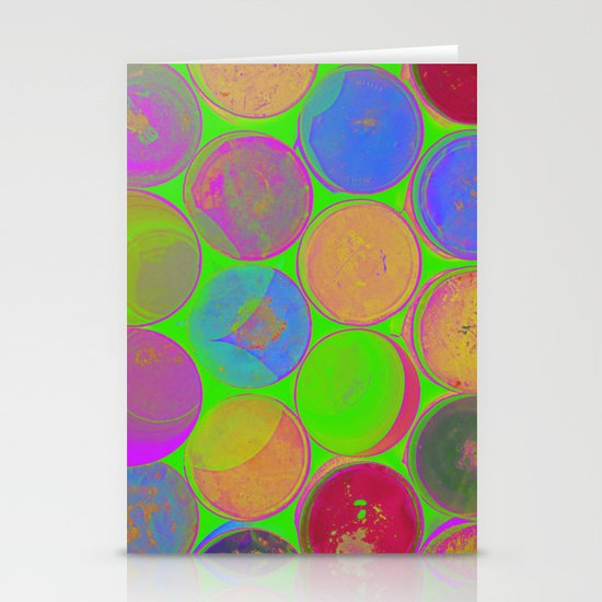 The Lie is a Round Truth. Green. Stationery Card
