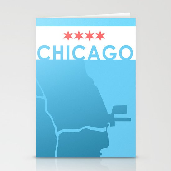 Minimalist Chicago Stationery Card