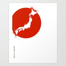 Save Japan! Art Print