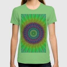 Colorful explosion Womens Fitted Tee Grass SMALL