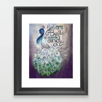 You Are Beautiful Inside… Framed Art Print