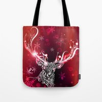 Christmas Deer Tote Bag
