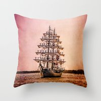 Tall ship Gloria Throw Pillow