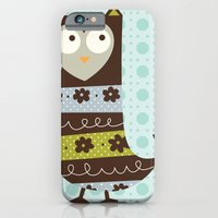 Brown Whimsy Owl iPhone 6 Slim Case