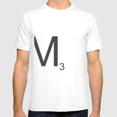 Scrabble M White Mens Fitted Tee SMALL